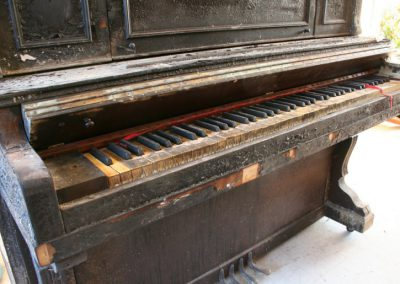 Cable Piano before restoration