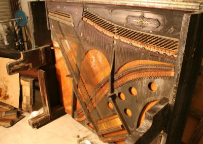Cable Piano during restoration