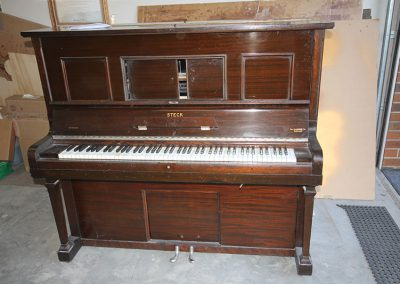 Steck Pianola before restoration